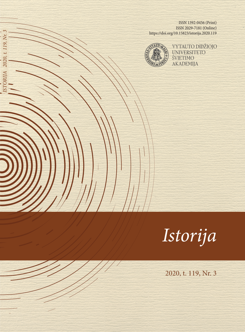View Vol. 119 No. 3 (2020): History