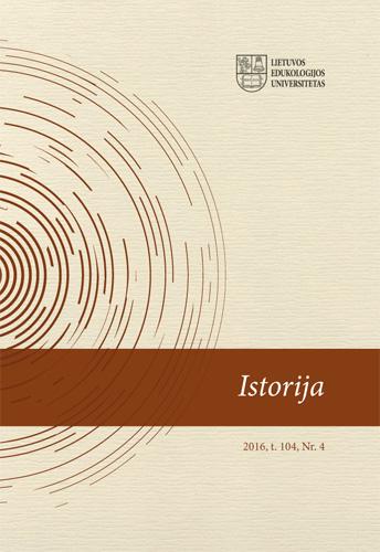 View Vol. 104 No. 4 (2016): History