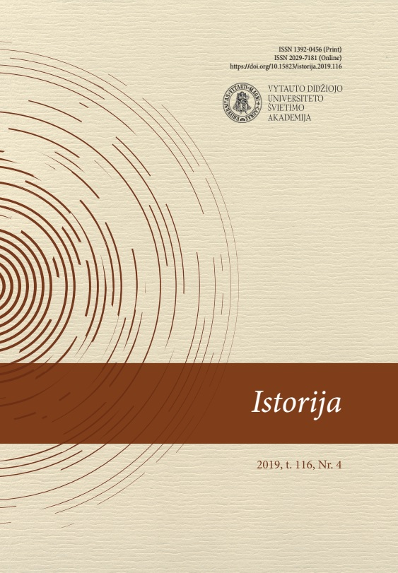 View Vol. 116 No. 4 (2019): History