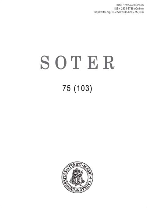 View No. 75 (103) (2020): Soter