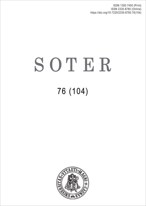 View No. 76 (104) (2020): Soter
