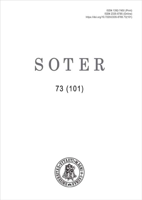 View No. 73 (101) (2020): Soter