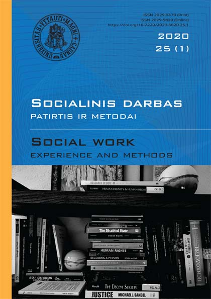 View Vol. 1 No. 25 (2020): Social Work. Experience and Methods