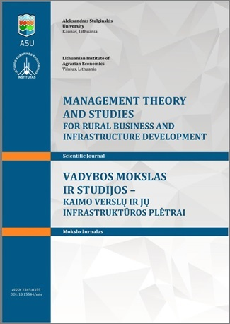 Vol 40 No 3 (2018) | Management Theory and Studies for Rural